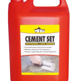 CEMENT SET - Anti-freeze & rapid set accelerator