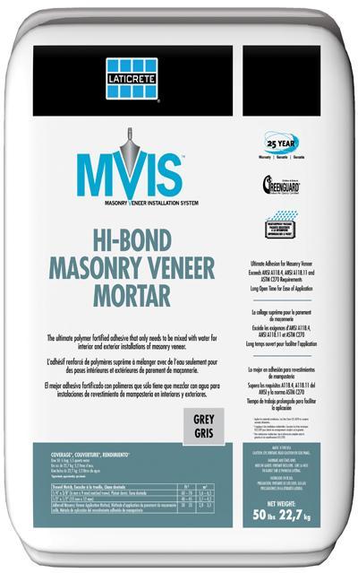 Laticrete MVIS HI-BOND MASONRY VENEER MORTAR